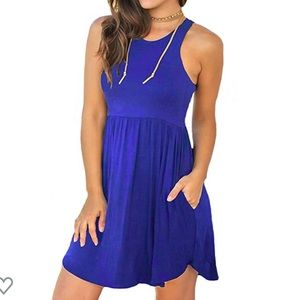 Dresses & Skirts - NWT sleeveless casual dress in Blue size L